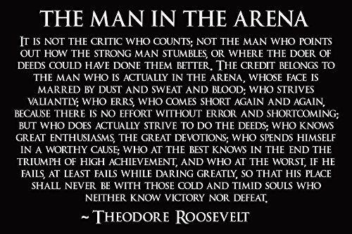 Theodore Roosevelt Man In The Arena Poster Theodore Roosevelt Teddy4