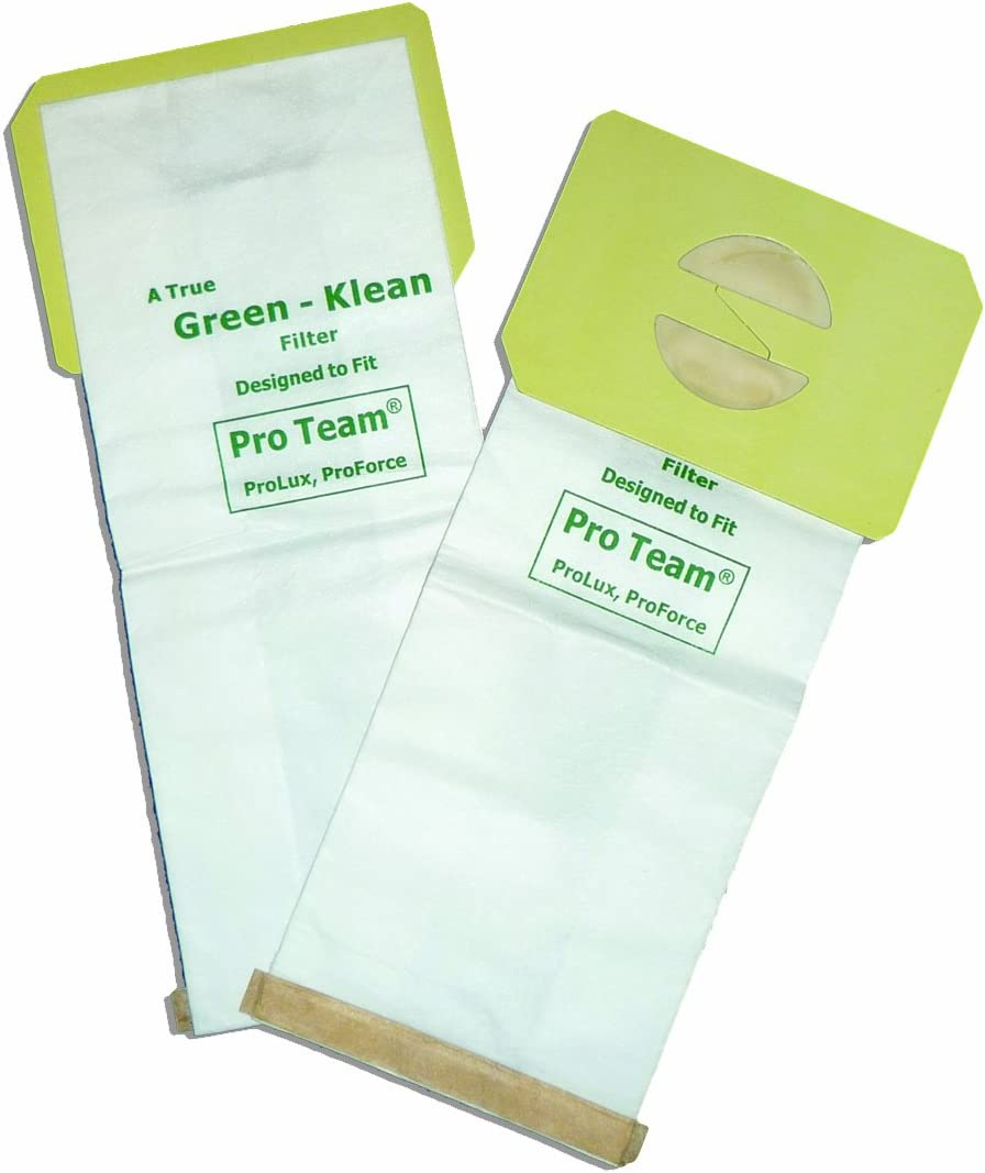 Green Klean 103483 Pro Team ProLux and ProForce Replacement Vacuum Cleaner Bags