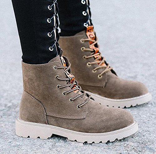40 Non Cool Suede Style Shoes Beauqueen Brown slip Skateboard Shoes Outdoords 35 Fkat Rock Upper Punk Womens Lace Heel Wareable Shoes Cozy up xwxq1agf