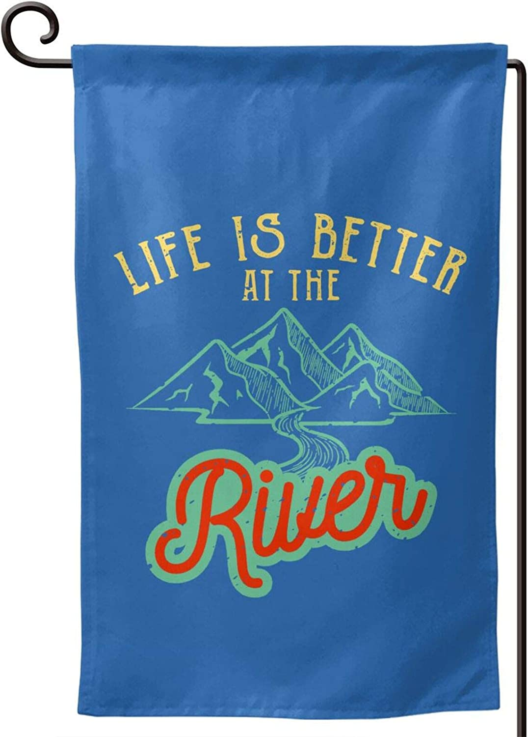 CRTY Life is Better at The River Flag Outdoor Decor Flags 12.5 X 18 Inch Double Sided Garden Flag
