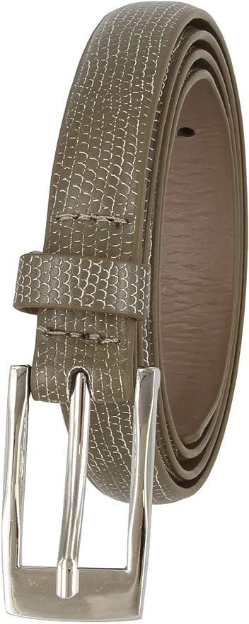 "Women/'s Skinny Snakeskin Embossed Genuine Leather Dress Casual Belt 3//4/"" Wide"