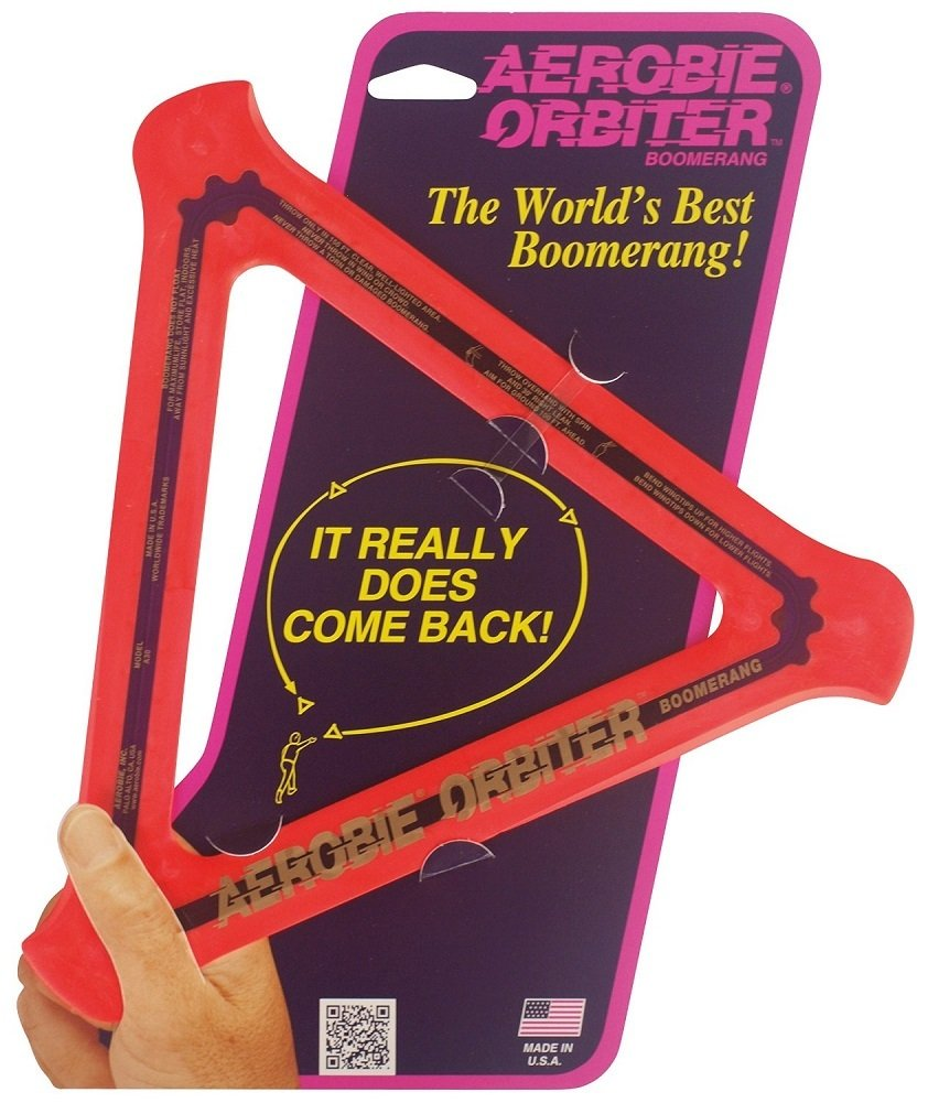 Aerobie Orbiter Boomerang - Single Unit (Red)