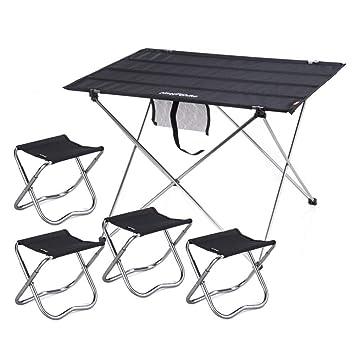 Alf Mesa y Silla de Camping Mesa Plegable y Juego de 4 sillas ...
