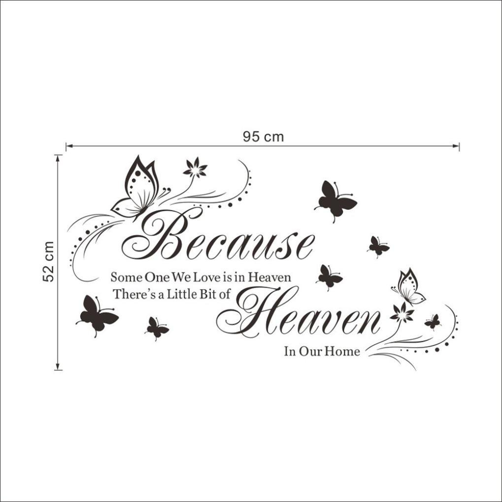 Schwarz EARS Schmetterling DIY Hintergrund Wand Home Wandbild Dekoration Entfernbare Wandaufkleber