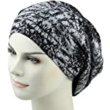 464f8b5e4fe Satin Lined Sleep Cap Frizzy Hair Headwear Smooth Curly Hair Slouchy Beanie