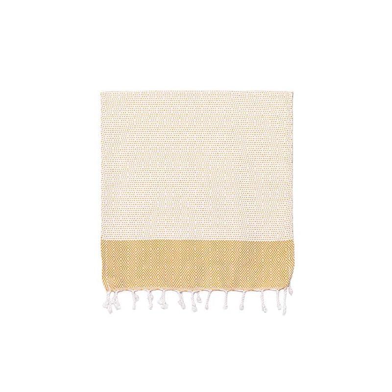 COCOTTON Boho Diamond Turkish Hand Towels Set of 2 | 100% Cotton 16 x 40 Inches | Decorative Bathroom Hand Hair Face Gym…