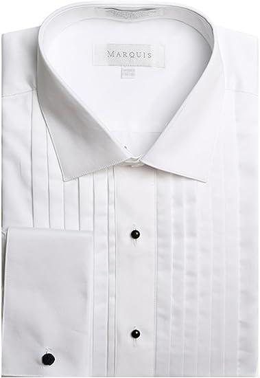 Gitman Spread Collar Ten Pleat Tuxedo Shirt French Cuff