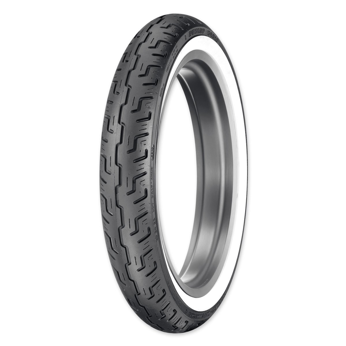 Dunlop D401 100/90-19 Wide Whitewall Front Tire 302425