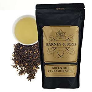 Harney and Sons Green Hot Cinnamon Loose Tea, 16 Ounce