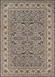 """Momeni Rugs ROYALRY-02GRY3B57 Royal Collection Power Loomed Traditional Area Rug, 3'11"""" x 5'7″, Grey Review"""