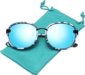 LianSan Cat Eye Sunglasses Women Metal Frame Mirrored Flat Lenses Fashion Sunglasses 7805