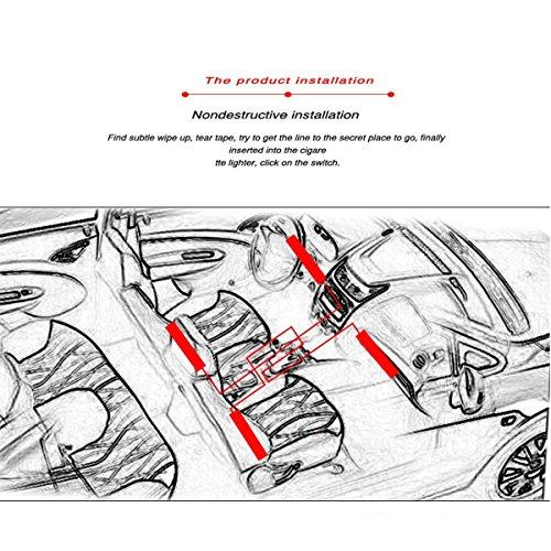 adecorty car led strip light  4pcs 48 led dc 12v multicolor music car interior light led under