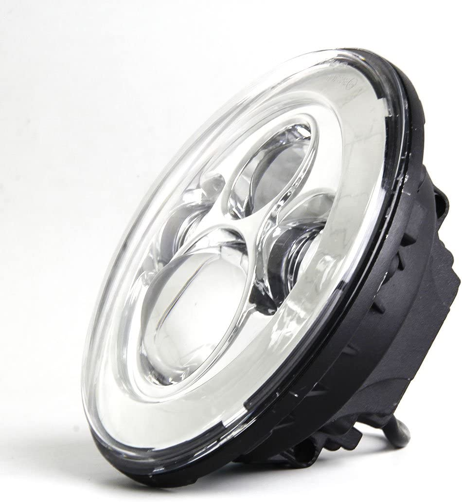 7 inch Round LED Headlight High Low Beam with 7 headlights Mounting bracket ring support for Harley Da-vidson Road King Motorcycle Chrome