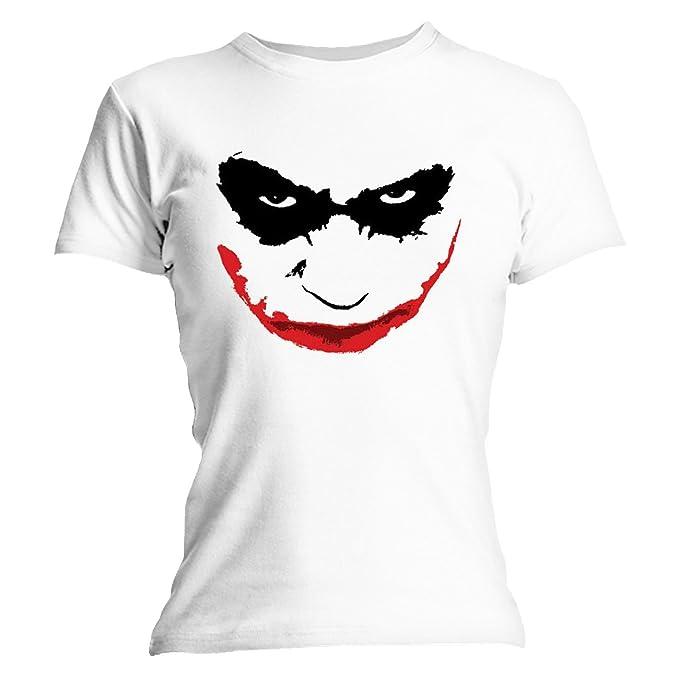 Camiseta Batman – Joker Face Mujer Blanco blanco Large