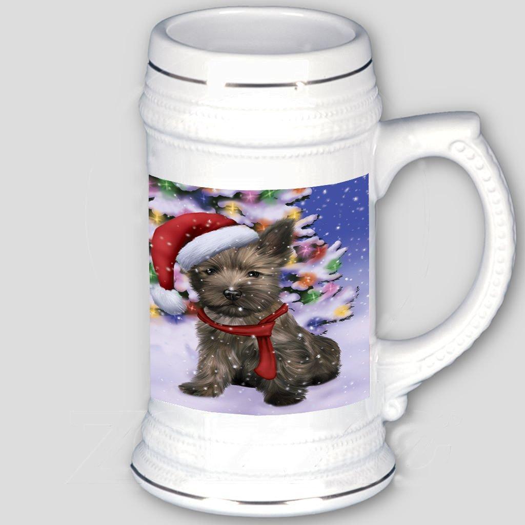 Amazon.com | Winterland Wonderland Cairn Terrier Puppy Dog In ...