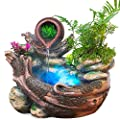 YOUWEI Tabletop Fountain Room Decoration Portable Feng Shui Fountain Indoor and Outdoor, for Living Room, Bedroom, Office