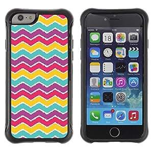 "Pulsar iFace Series Tpu silicona Carcasa Funda Case para Apple (4.7 inches!!!) iPhone 6 , Modelo púrpura del trullo Rojo Rosa"""