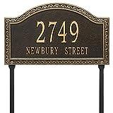 "Custom Grande Penhurst LAWN Address Plaque 20""W x 12""H (2 Lines)"