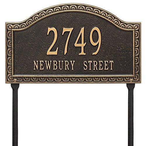 [해외]Custom Grande Penhurst LAWN Address Plaque 20\u201dW x 12\u201dH (2 Lines) / Custom Grande Penhurst LAWN Address Plaque 20W x 12H (2 Lines)