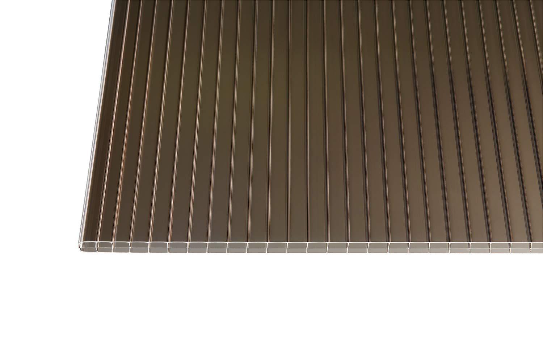 Polycarbonat Stegplatten Hohlkammerplatten bronce 5000 x 1200 x 16 mm