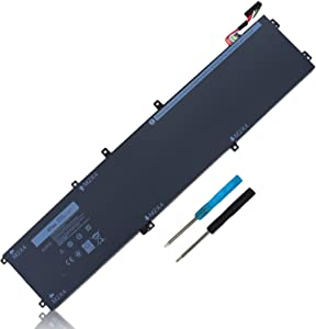 97WH 6GTPY Battery for Dell XPS 15 9560 9570 9550 7590 P56F P56F001 P56F002 Precision 5510 5520 5530 Vostro 7500 5XJ28 05XJ28 5D91C GPM03 451-BBYB-TM 1P6KD 4GVGH [Not for Laptop with SDD/HDD]