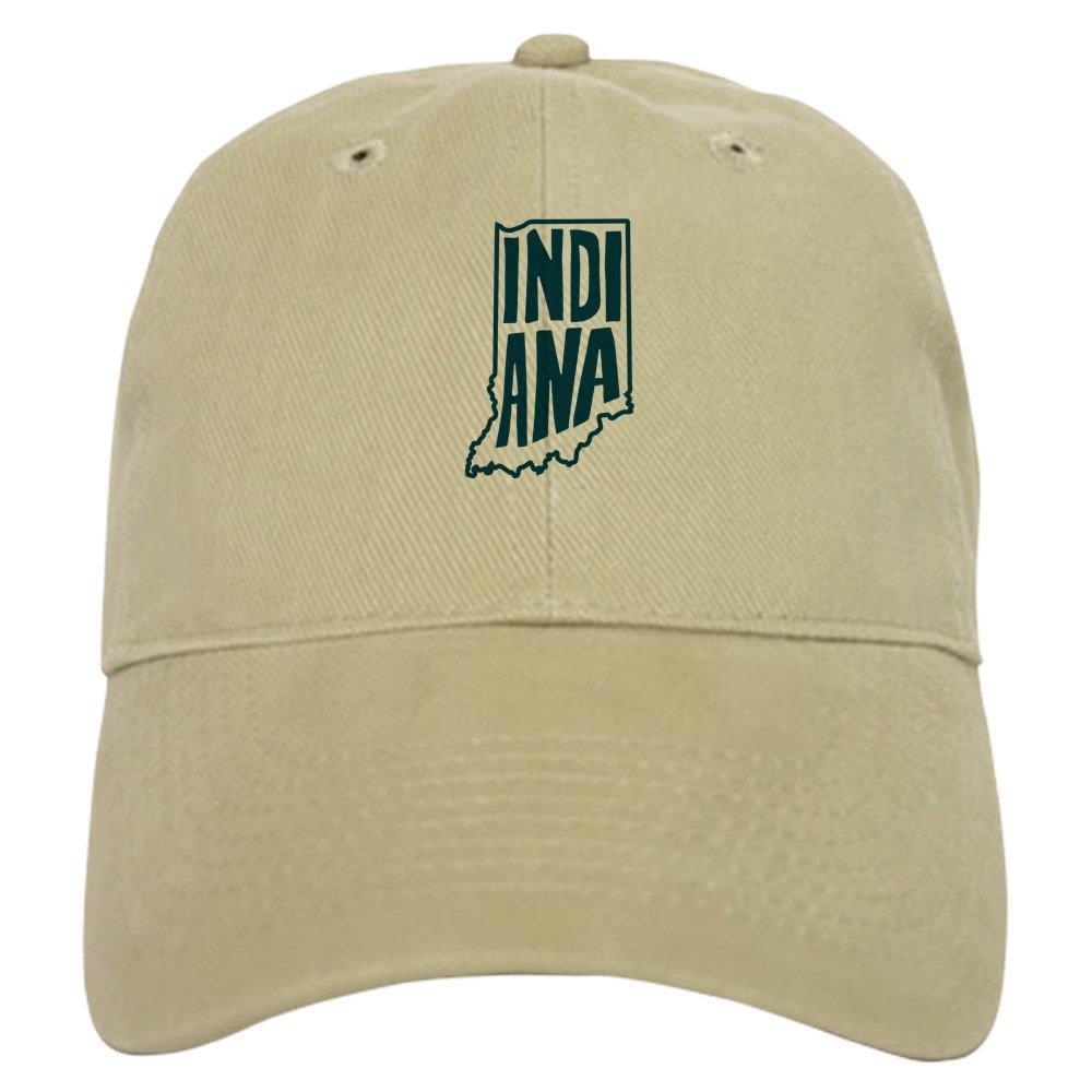 95978c4a6e80f9 ... inexpensive amazon cafepress indiana baseball cap with adjustable  closure unique printed baseball hat khaki clothing a4899