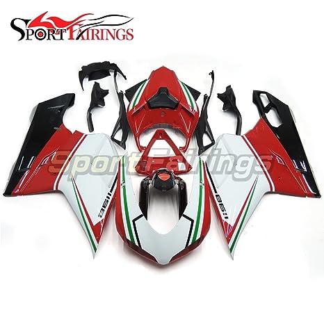 sportfairings Inyección ABS plástico Kit de carenado para Ducati 1098 848 1198 año 2007 2008 2009