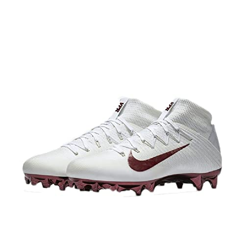 check out e9279 8bf55 Nike 835831-161 Vapor Untouchable 2 Jewels White Maroon Mens Cleats Sz  11.5 Amazon.ca Shoes  Handbags