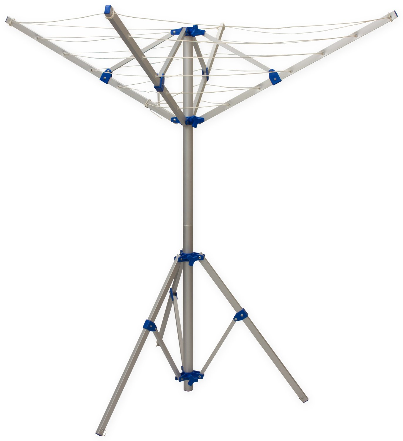 Andes 4 Arm Aluminium Rotary Camping Clothes Airer 16m Washing Line Drying Rack