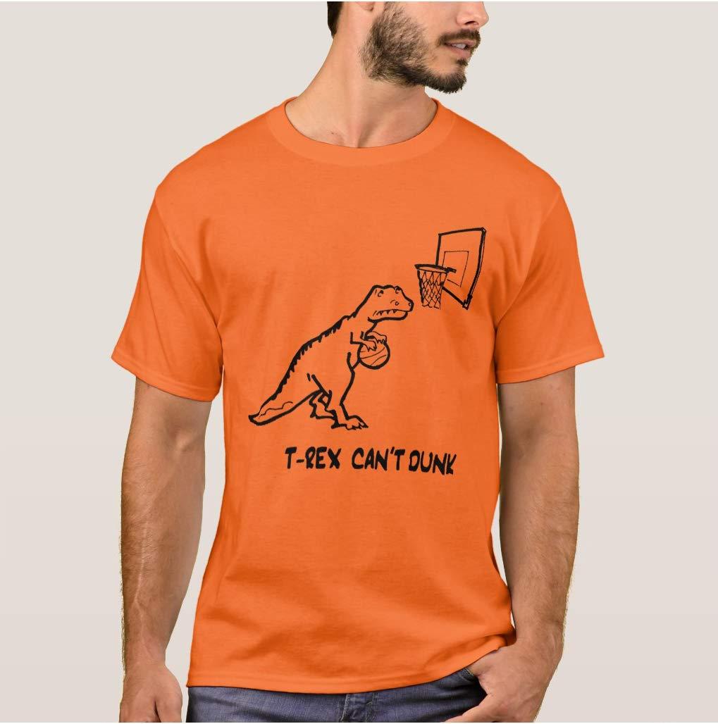 Basketball T Rex Can T Dunk Unisex T Shirt Funny Print Short Sleeve Tees Tops