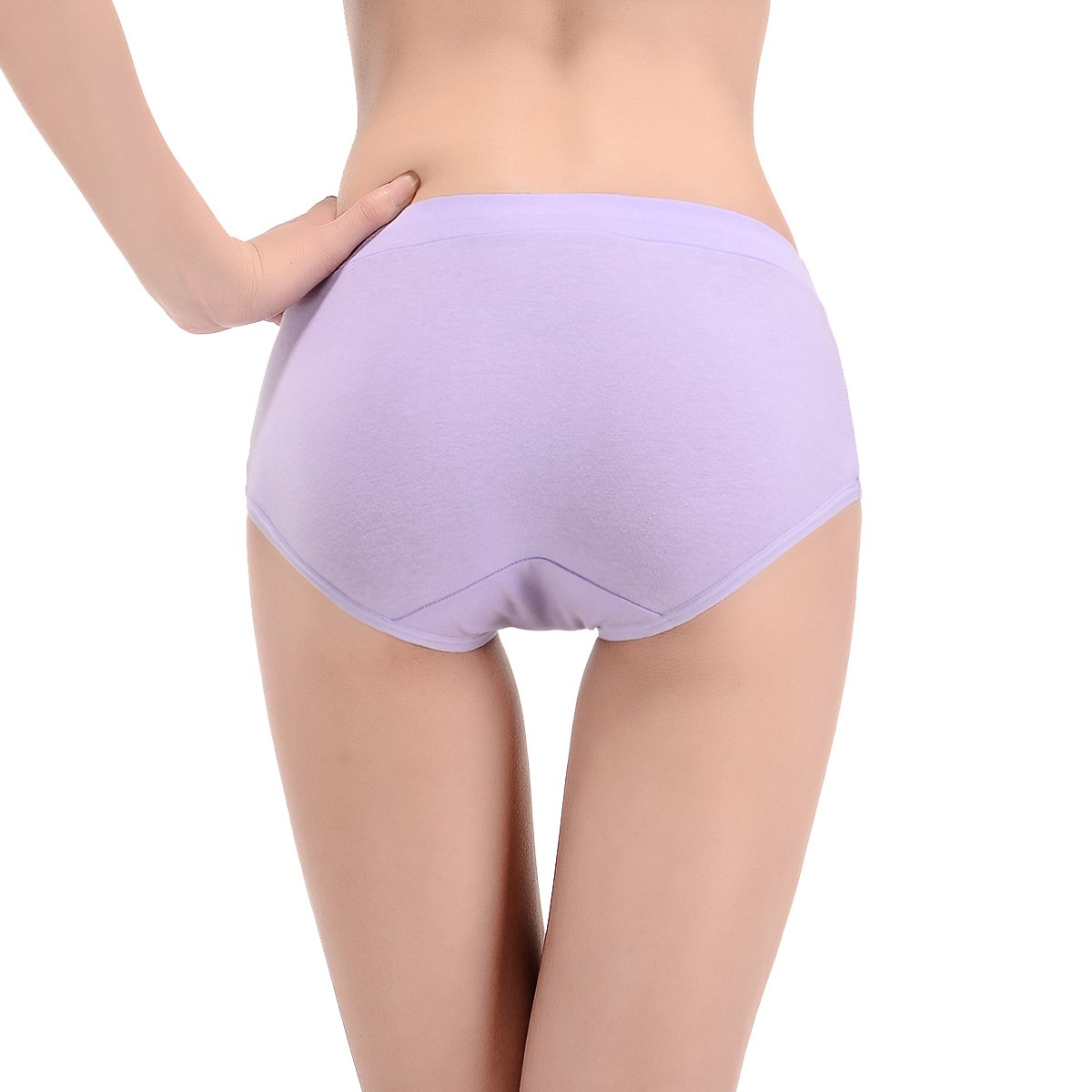 Assorted Colors Buankoxy Womens 8 Pack Stretch Cotton Panties