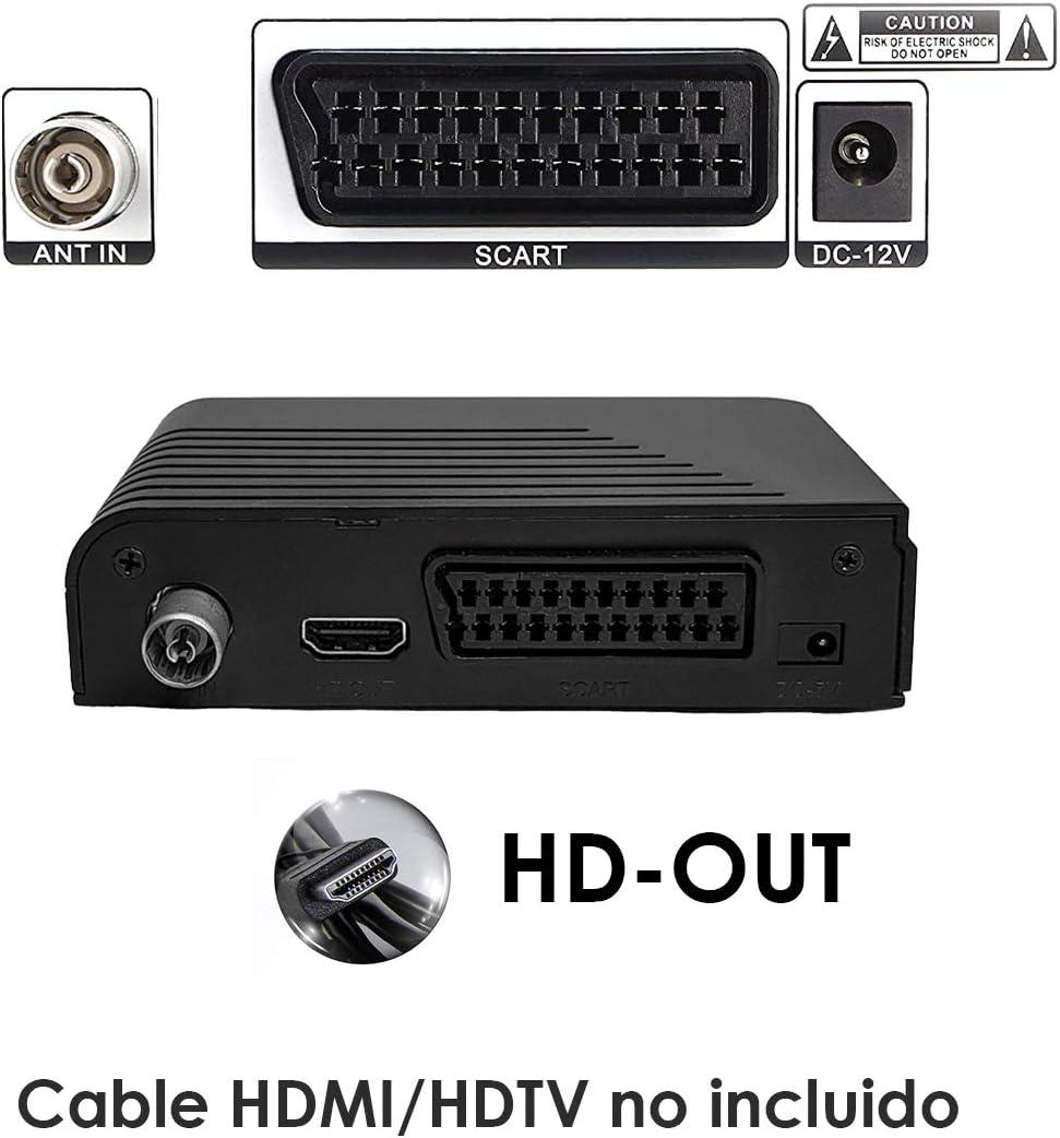 Sintonizador TDT-T2 VBSL-254   Alta Definición   USB reproductor multimedia   HD-OUT   Euroconector SCART   Mando a distancia.: Amazon.es: Electrónica
