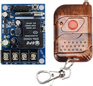 Lejin DC 12V 24V 36V 48V Relay Receiver 40A RF Wireless Remote Control Switch System With Long Range Transmitter 433.92Mhz