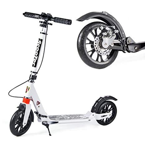 Patinetes clásicos Scooter Plegable para Adultos con Barra ...
