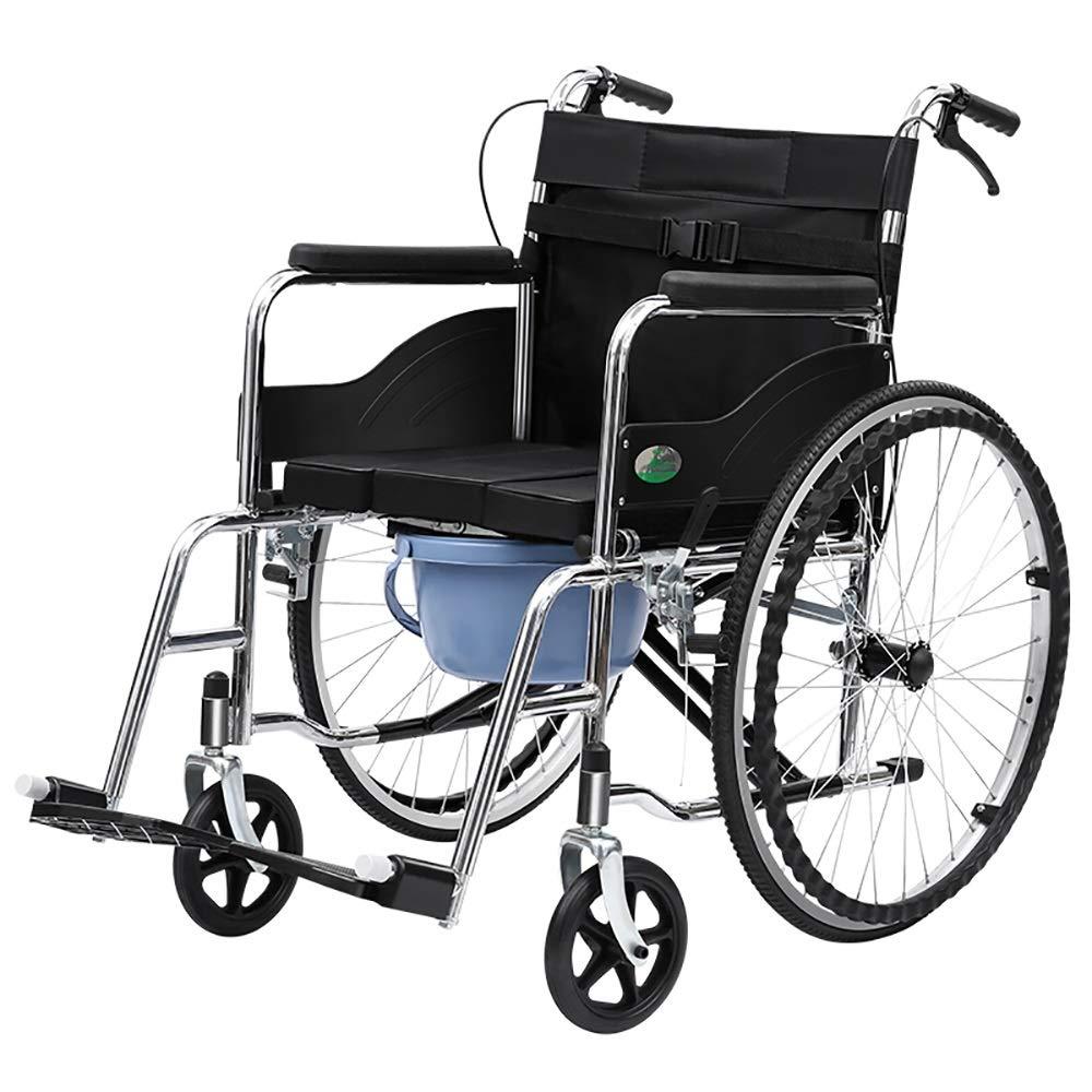 TLMY 光輸送折りたたみ介護車椅子携帯用旅行椅子ベビーカー快適な多機能車椅子 歩行補助器具 (Style : A) A  B07SN81TXB