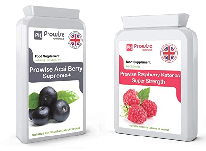 Prowise Premium Raspberry & ACAI BERRY COMBO | Extreme Strength 600mg Raspberry y 1000mg ACAI BERRY