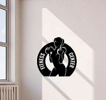 Amazon.com: calcomanía de Pared, Centro de fitness gym Club ...