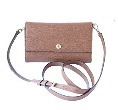 eb4a107e303a Amazon.com: Michael Kors Mercer Small Snap Crossbody Wallet for Phone  Luggage Brown: Shoes