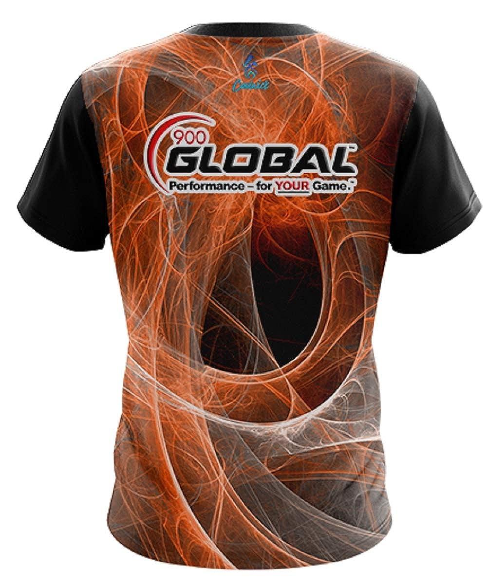 CoolWick 900 Global Men Energy Swirls Orange Bowling Jersey