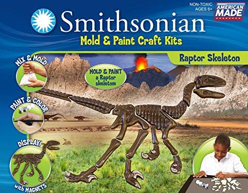 Dinosaur Casting (Smithsonian Raptor Skeleton PerfectCast Mold and Paint Craft)