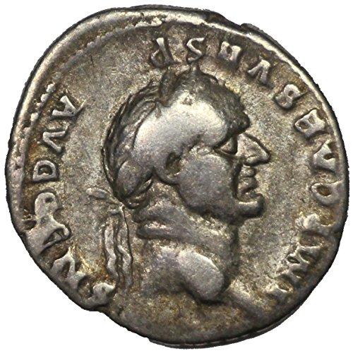 73 A.D. Ancient Roman Silver Denarius Coin, Emperor Vespasian, Roman (Rare Foreign Coins)