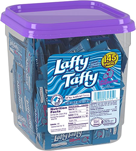 Laffy Taffy Candy Jar, Blue Raspberry, 145 Count