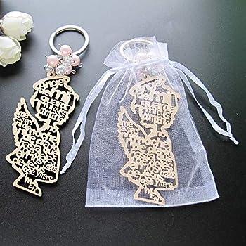 Amazon.com: Llavero de ángel de bautizo de madera (12 piezas ...