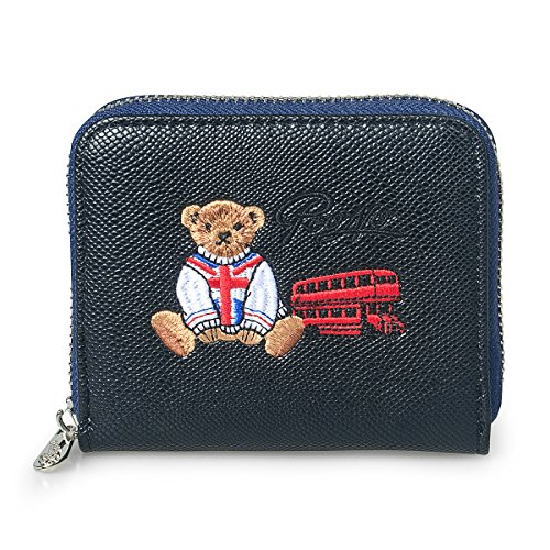 fency-womens-cute-bear-embroidered-small-wallet-faux-leather-zip-around-purse-poono-series-95-degree