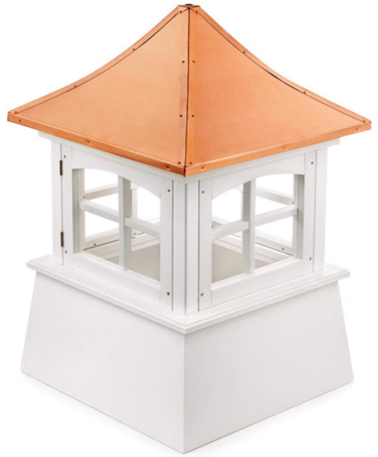 91'' Handcrafted ''Windsor'' Copper Roof Vinyl Cupola by CC Home Furnishings