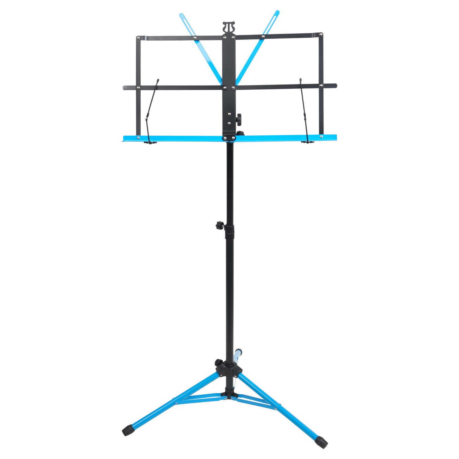 Audio 2000s 60'' Height Portable Sheet Music Stand Dual Color Black/Blue AST444B-BBL