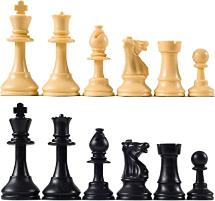 Amazon Com Quality Club Chess Pieces With 3 3 4 King Toys Games