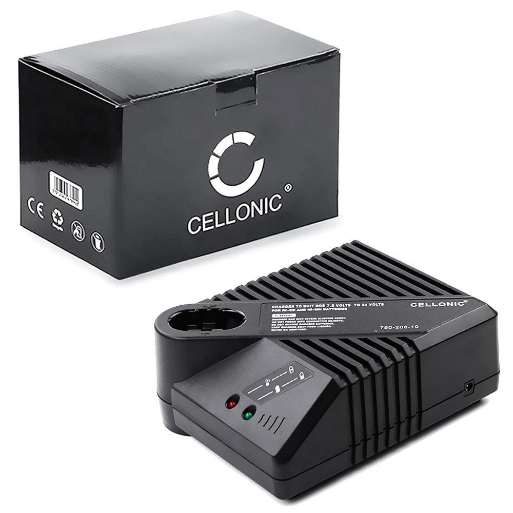 CELLONIC/® Qualit/äts Ladekabel kompatibel mit Bosch GSR 7.2-2V 7.2V // 9.6V // 12V // 14.4V // 18V // 24V Ladeger/ät Netzteil Charger schwarz