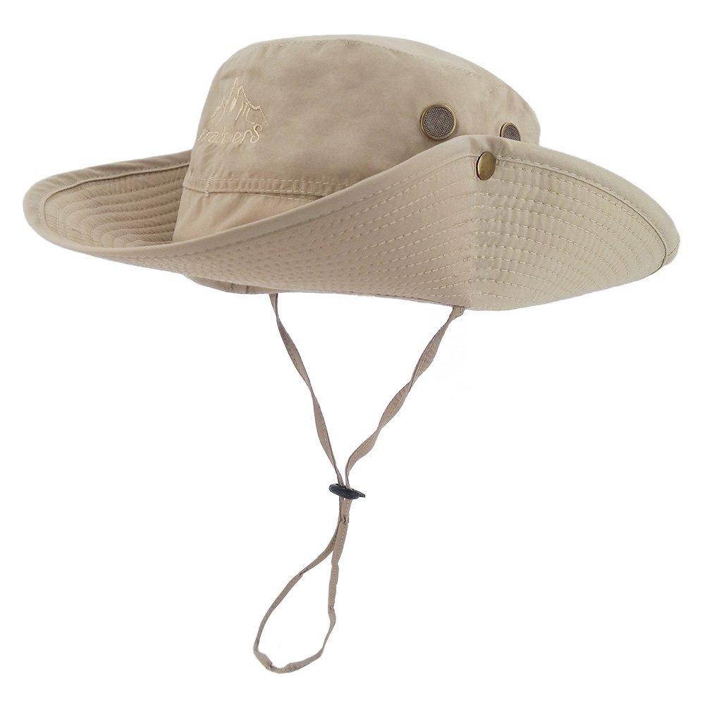 7c210b20b10 LETHMIK Outdoor Waterproof Boonie Hat Wide Brim Breathable Hunting Fishing  Safari Sun Hat