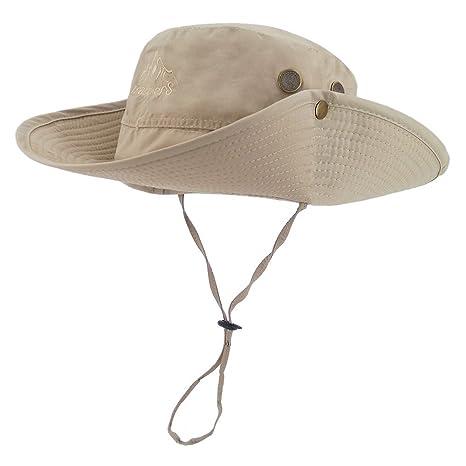 LETHMIK Outdoor Waterproof Boonie Hat Wide Brim Breathable Hunting ... 2636677cbf2a